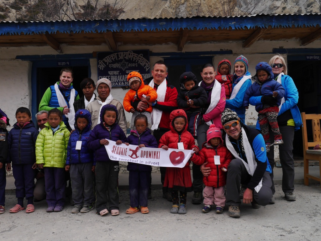 We gave the children in Nepal something to
