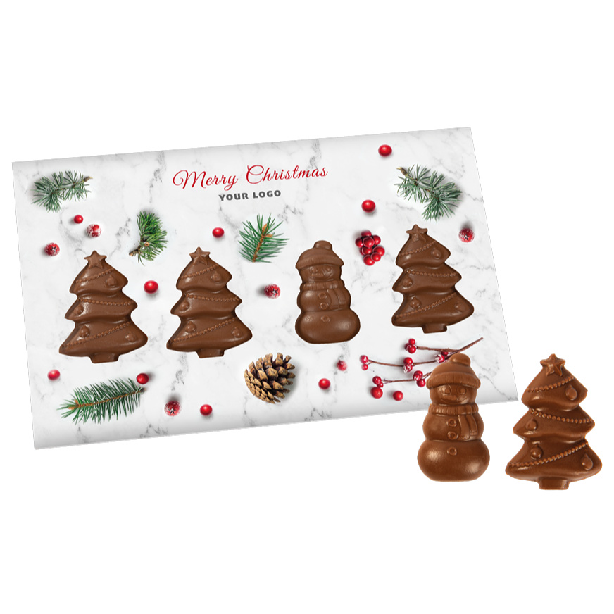 CHRISTMAS CARD WITH CHRISTMAS TREES