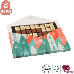 CHOCO TEXT 4 LINES IN ENVELOPE SEPARATE XMAS